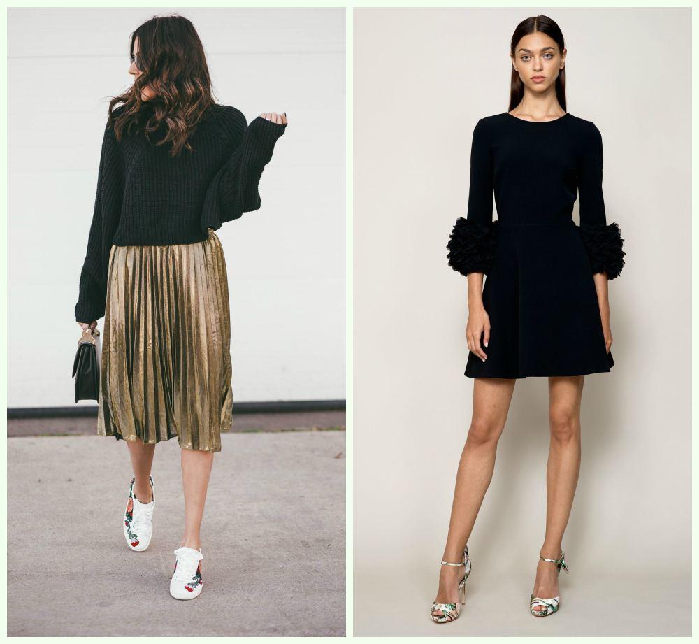 Модные новогодние платья, классическое маленькое черное платье