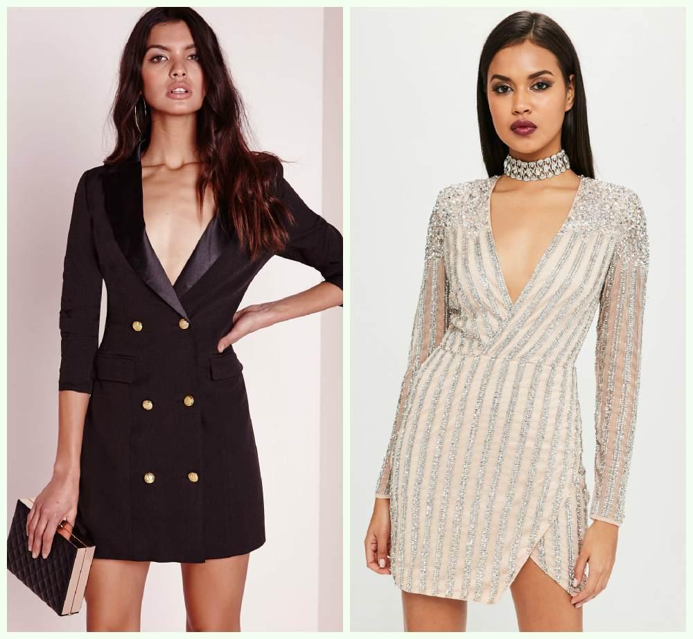 Модные и утончнные новогодние платья 2018 года разных моделей