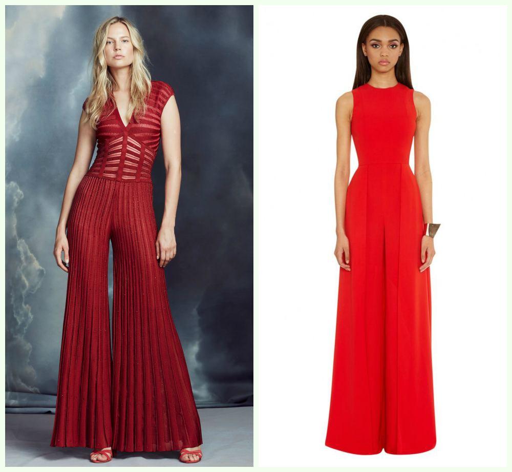 Модные новогодние платья, неповторимые варианты с комбинезонами