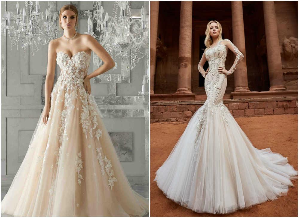 Самые модные свадебные платья 2018 года дла будущих невест