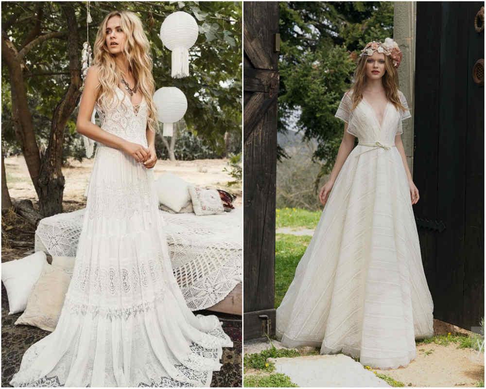 Фешенебельные и стильные свадебные платья 2018 года в стиле бохо