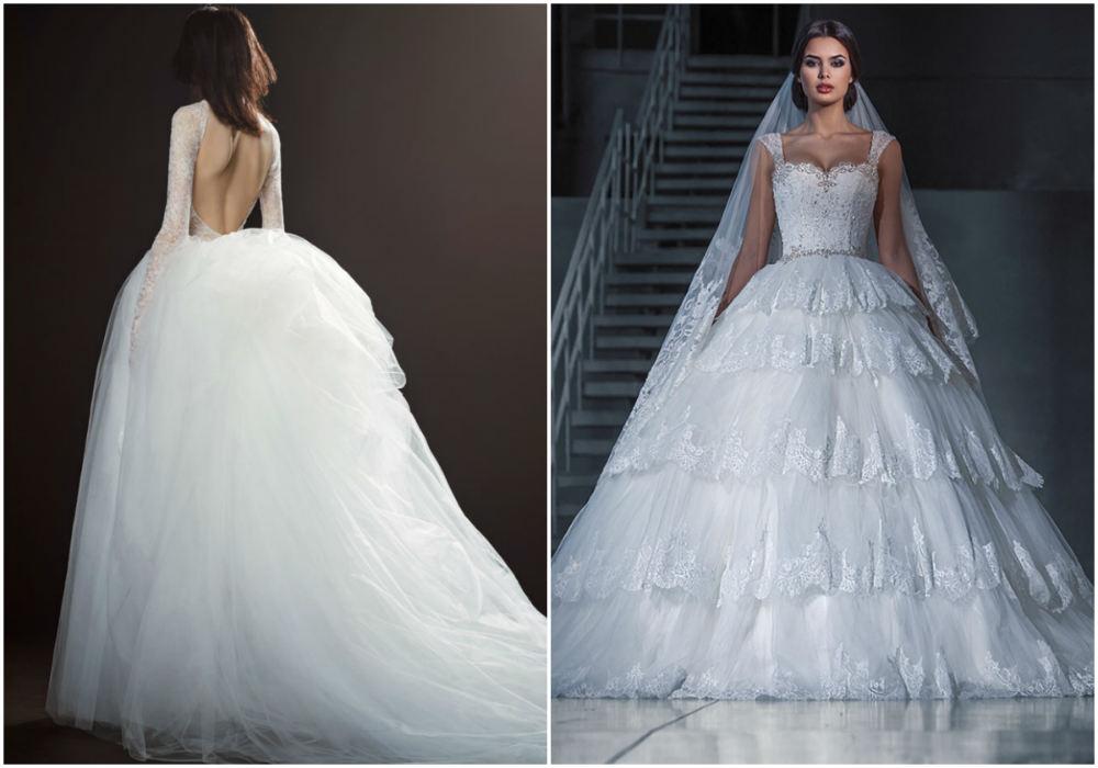 Oбъемные и экстравагантные модные свадебные платья бредна Вера Вонг