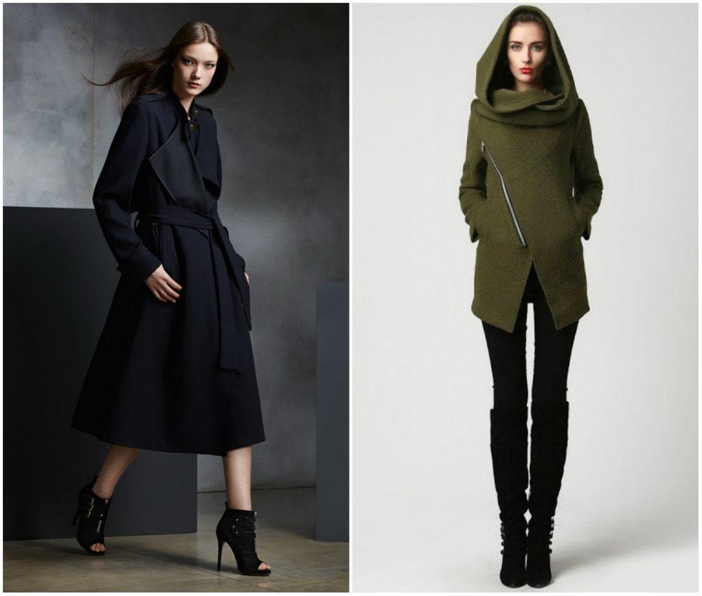 Модные пальто 2018 года разных длин и дизайнерских подходов