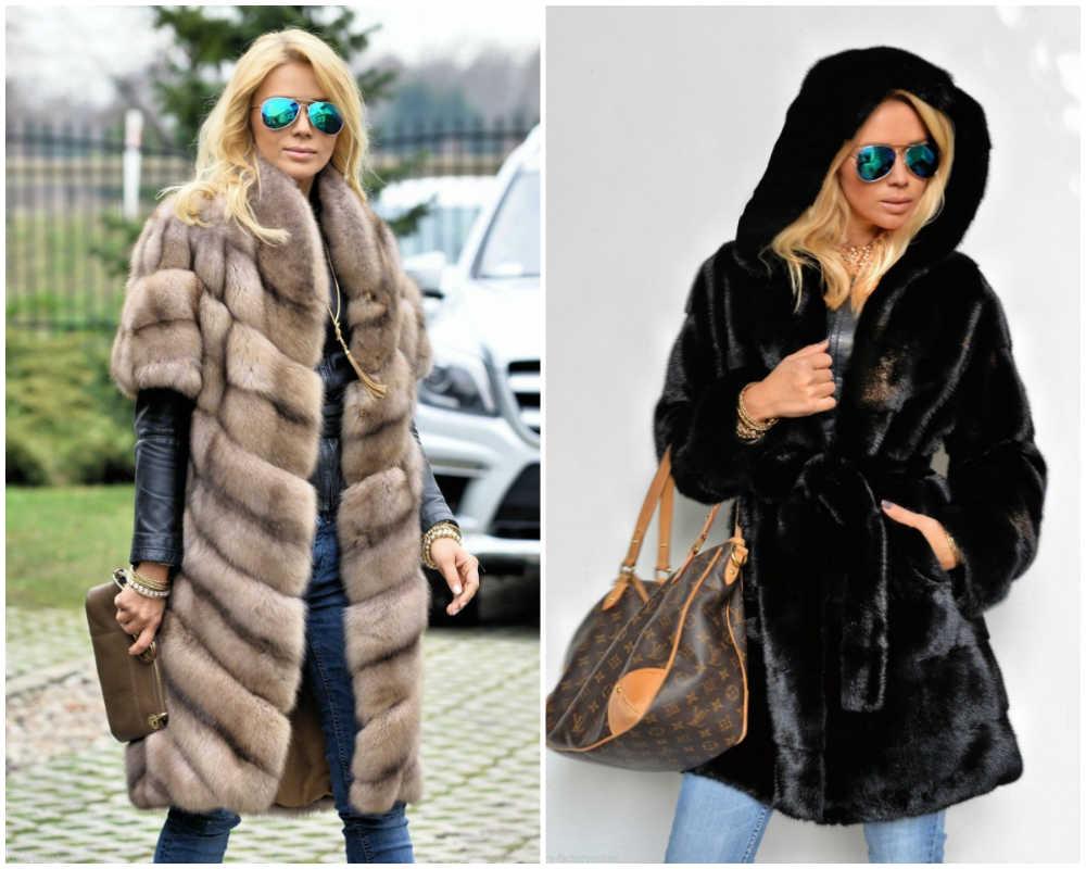 Меовые классические модные пальто 2018 года для любительниц меха