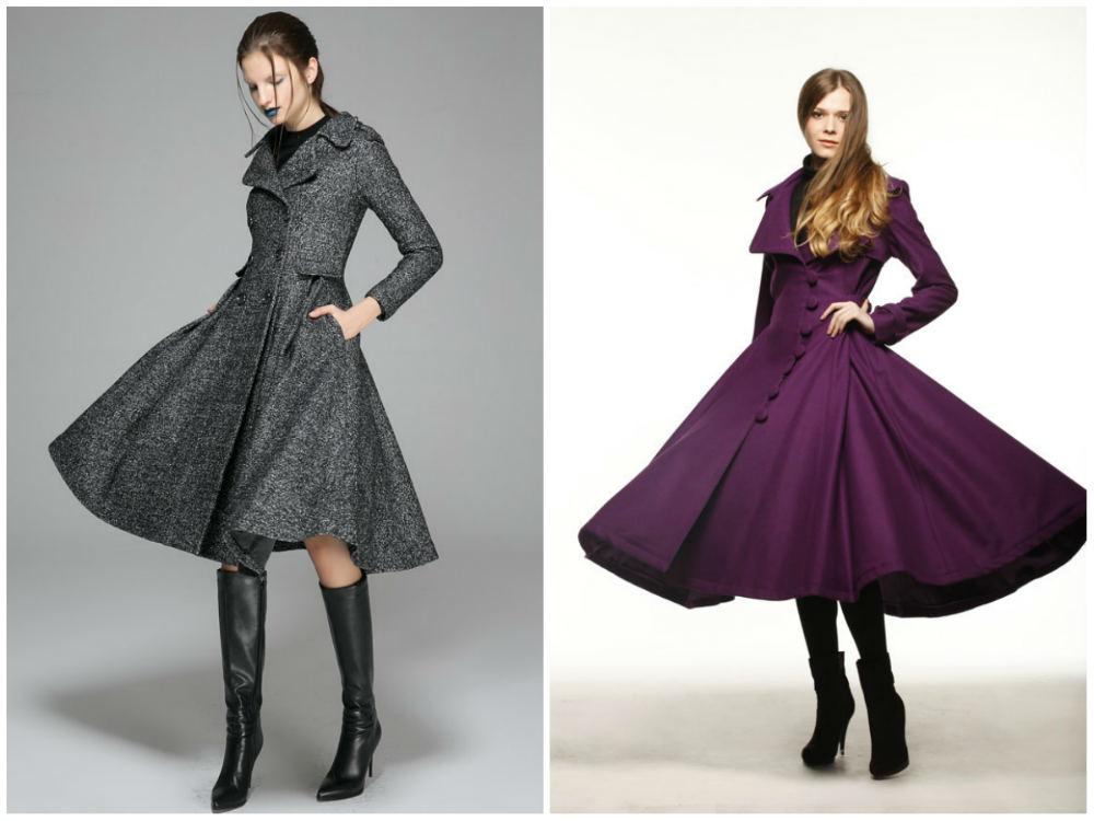 Приталенные модные пальто 2018 года, тренды и тенденции
