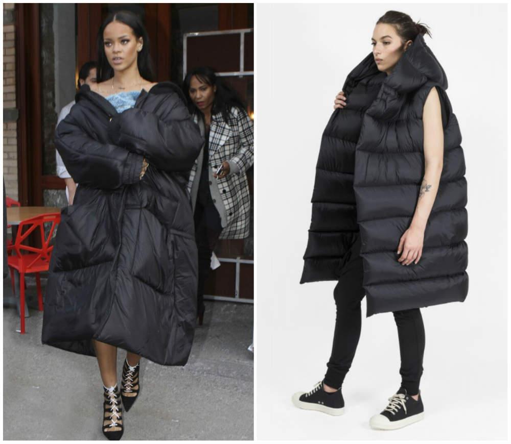 Mодные пальто 2018 года, мягкие куртки в стиле Рианны и Рика Оуенса