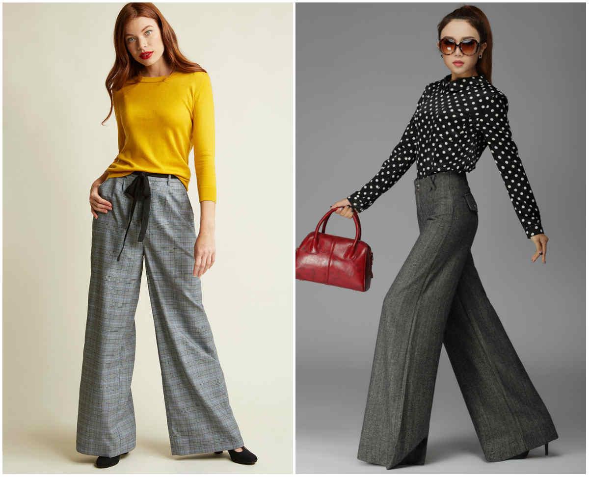 Классические серые модные женские брюки 2018 года для стильного образа