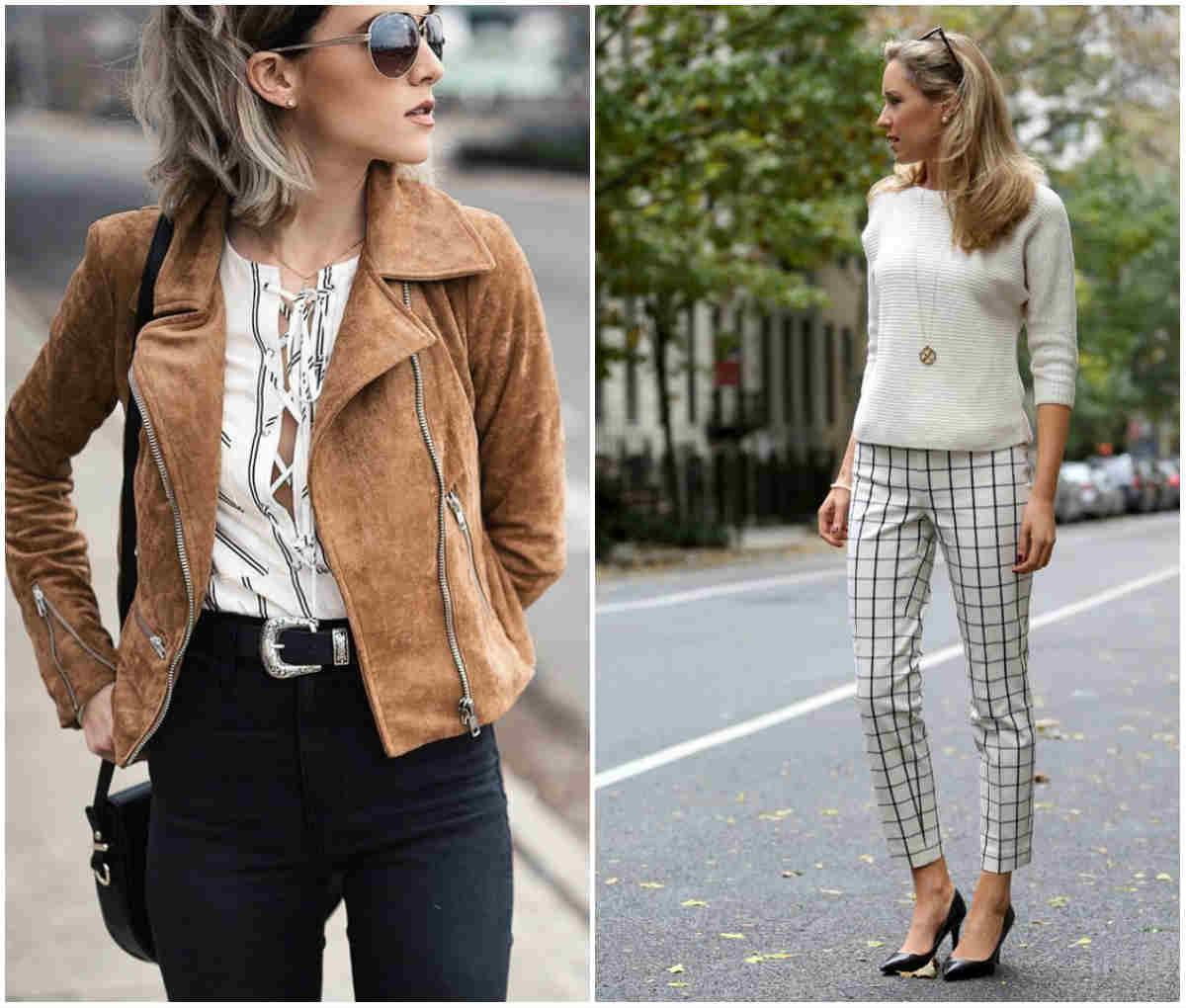 Модные женские брюки, трендовые брюки в клетку и черные классические брюки