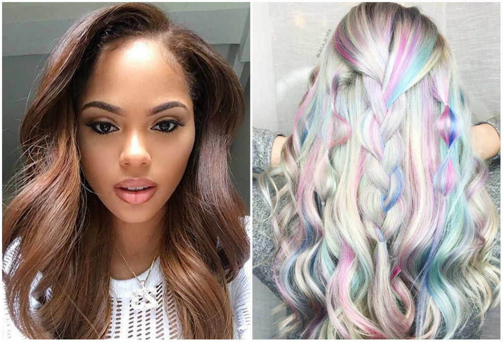 Модный тренд волос 2018 года; разноцветное окрашивание волос