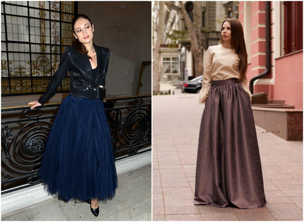 Объемные модные юбки 2022 года разных цветов и форм