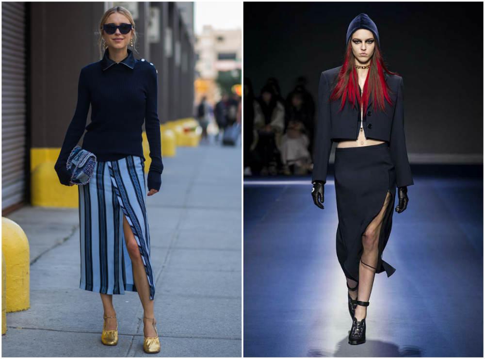 Женственные длинные модные юбки 2022 года со шлицем