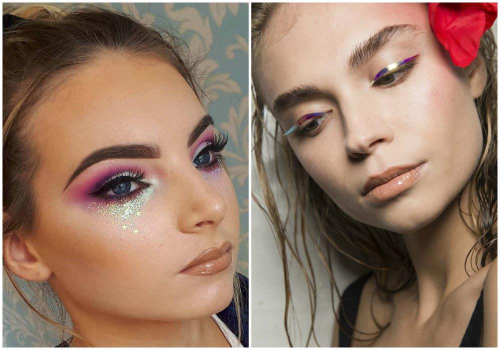 Ультрамодный макияж глаз 2018 года с разными интересными эффектами