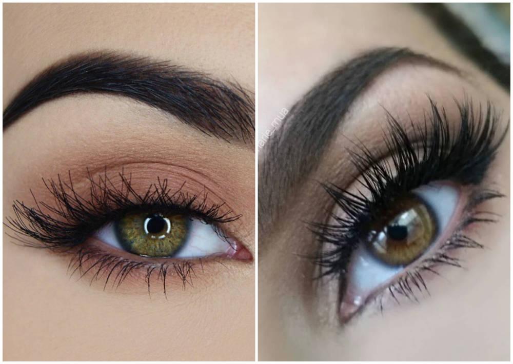 Красивый макияж глаз 2018 года, искусственные и модные ресницы
