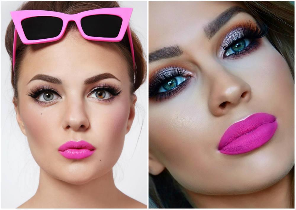 Яркий розовый модный цвет помады, ультрастильный и трендовый оттенок