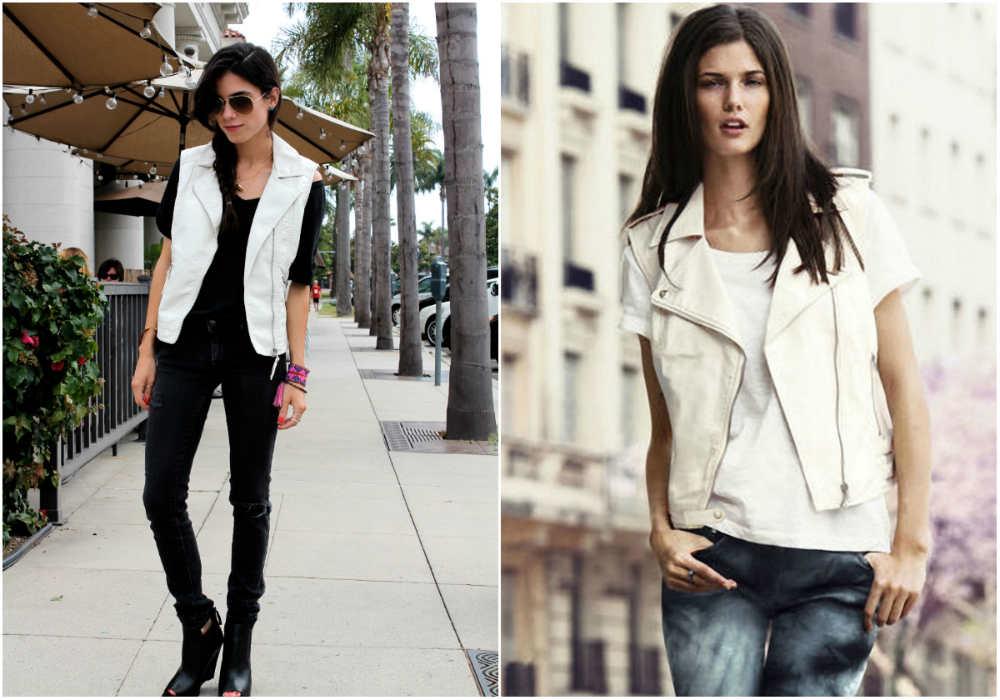 Модные жилеты 2018 года, кожаный женский жилет белого цвета