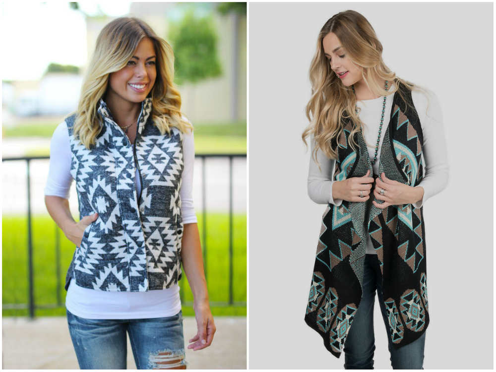 Модные жилеты 2018 года, креативные образы с разными принтами