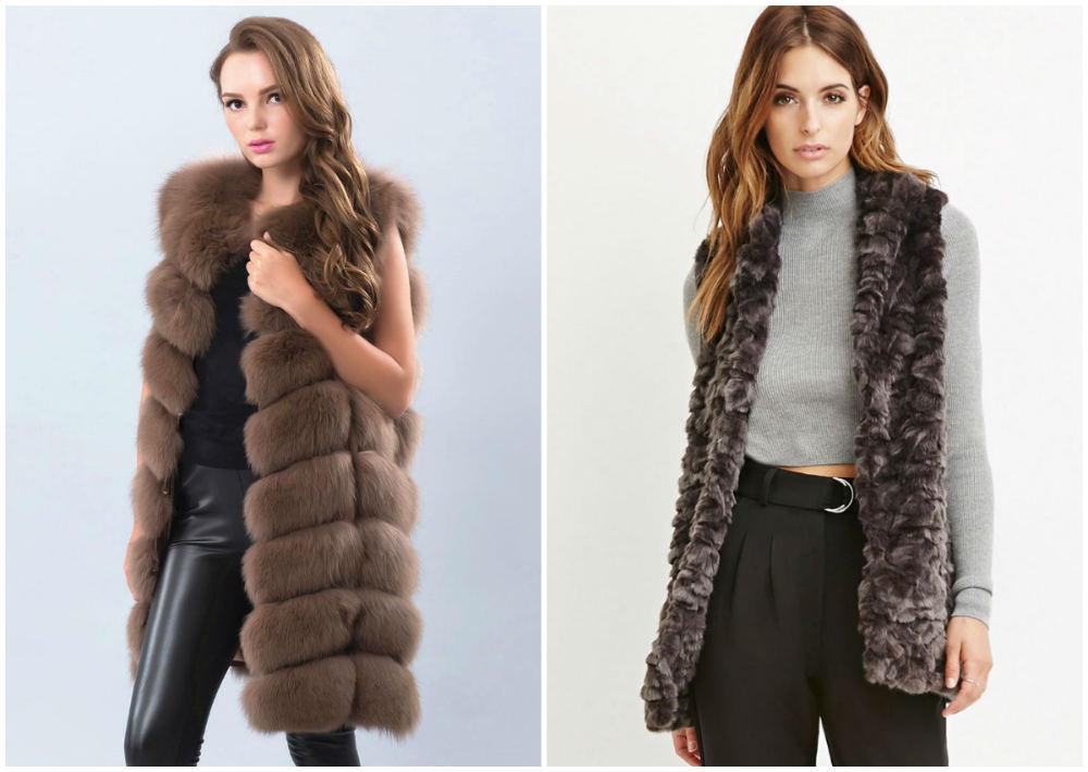 Ультрастильные и красивые меховые модные жилеты для женщин