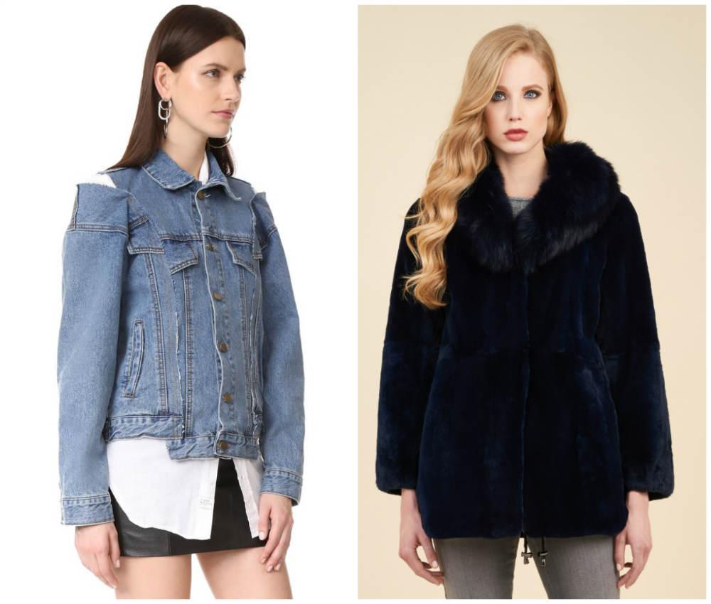 Модные тренды 2018 года, модные джинсовые и меховые куртки