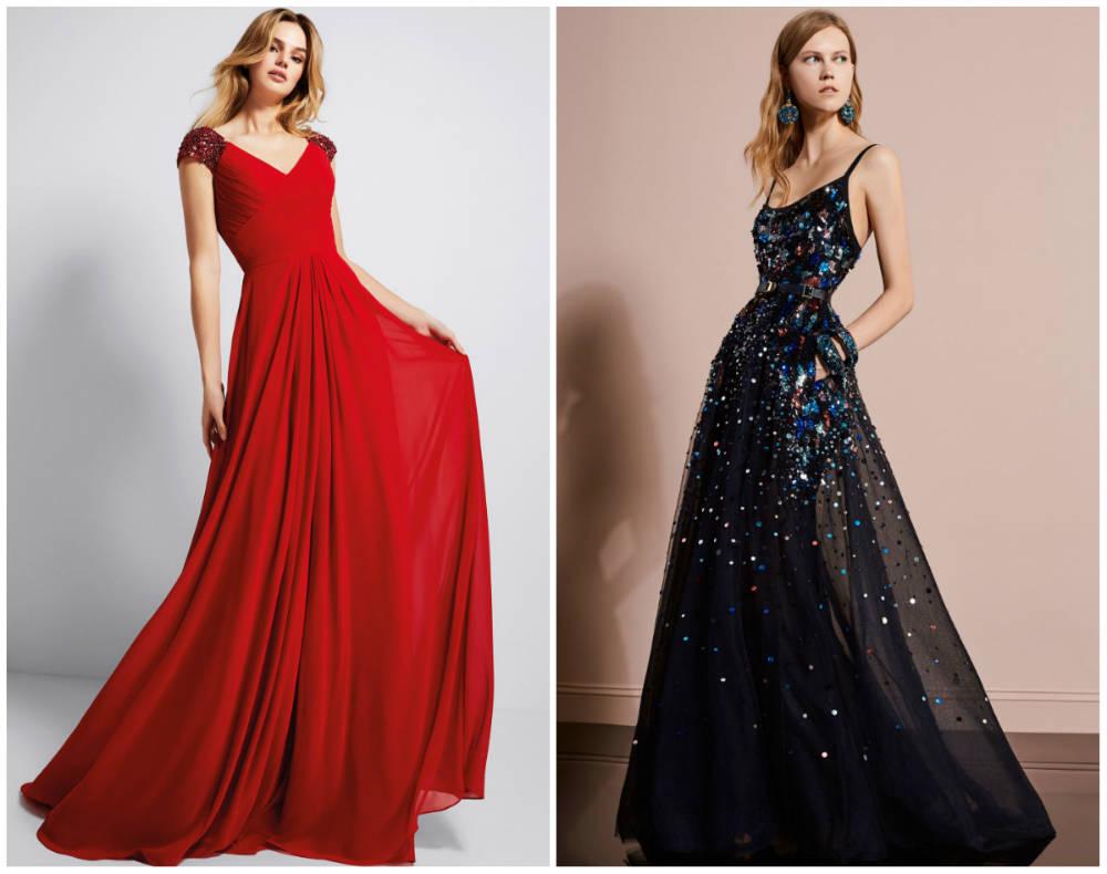 Модные тренды 2018 года, женственные и красивые вечерние платья
