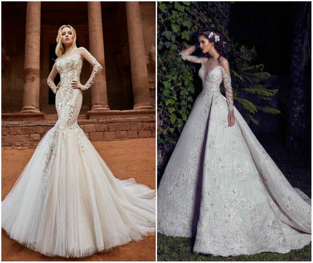 Модные тренды 2018 года, самые шикарные свадебные платья года