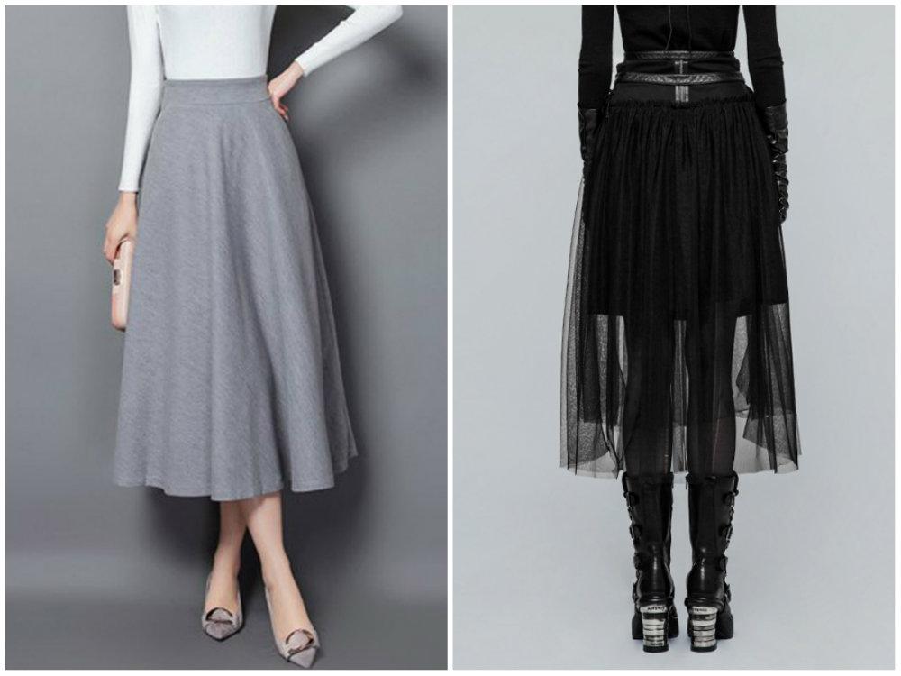 Модные тенденции 2018 года, модные и женственные юбки длины миди