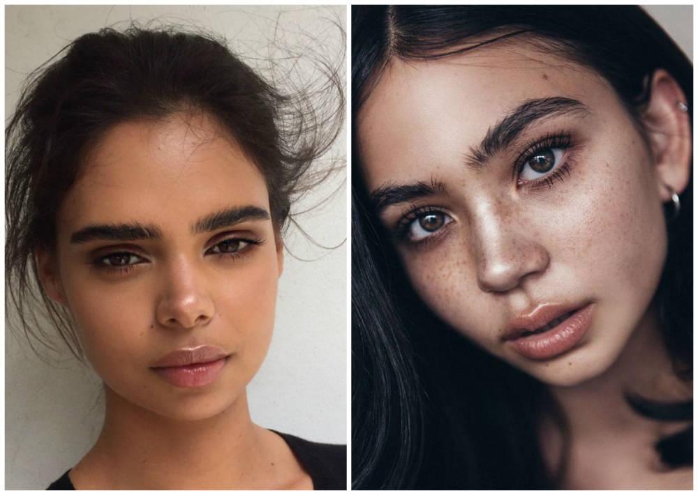 Самые красивые, трендовые естественные модные брови 2018 года