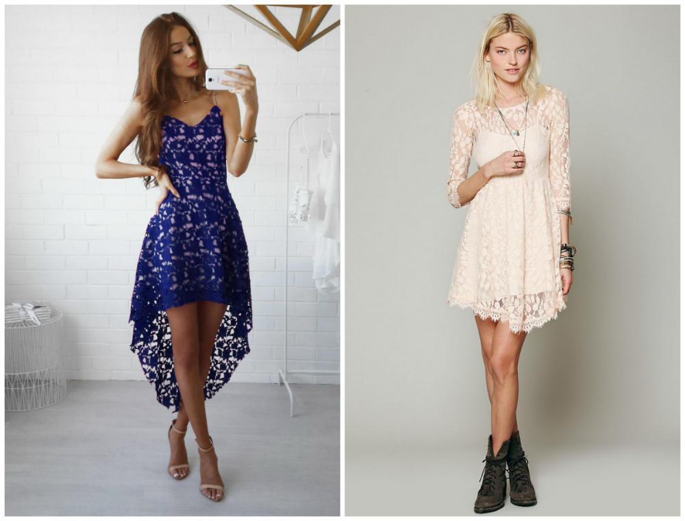 Самые стильные, модные и утонченные кружевные платья 2018 года