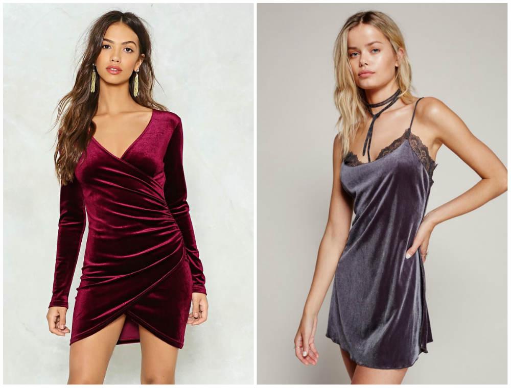 Бархатные платья 2020 года, последние модые тренды и тенденции