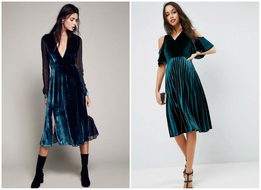 Модные бархатные платья 2018 года, лучшие и трендовые дизайны