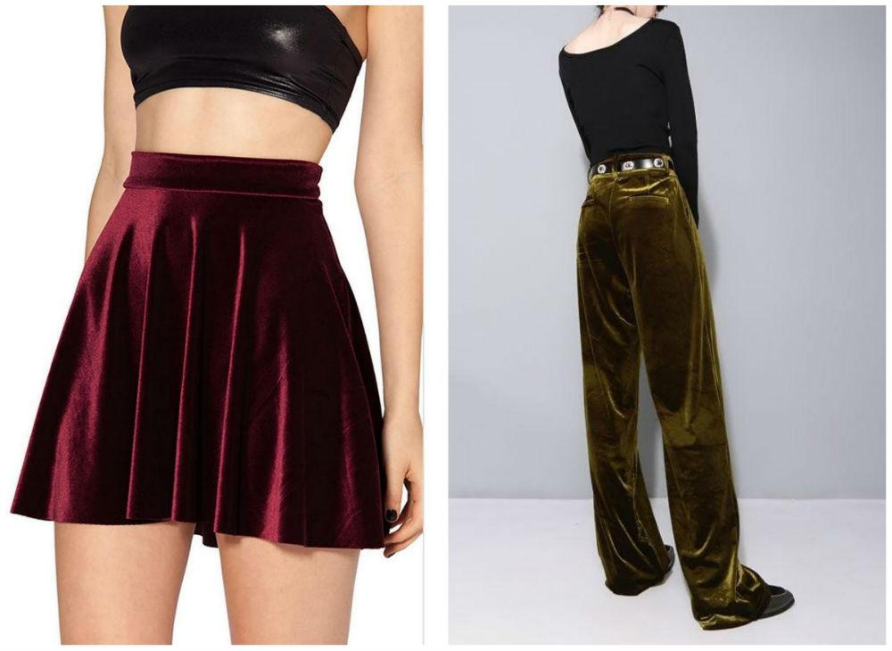 Бархатные платья 2020 года, модный дизайнн бархатных юбок и штанов
