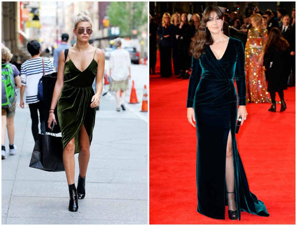 Красивые и элегантные бархатные платья 2020 года голливудских звезд