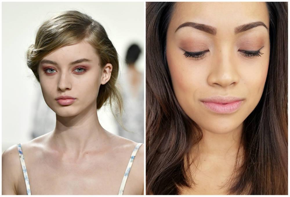 Трендовая и хитовая весенняя коллекция макияжа, чайный оттенок теней