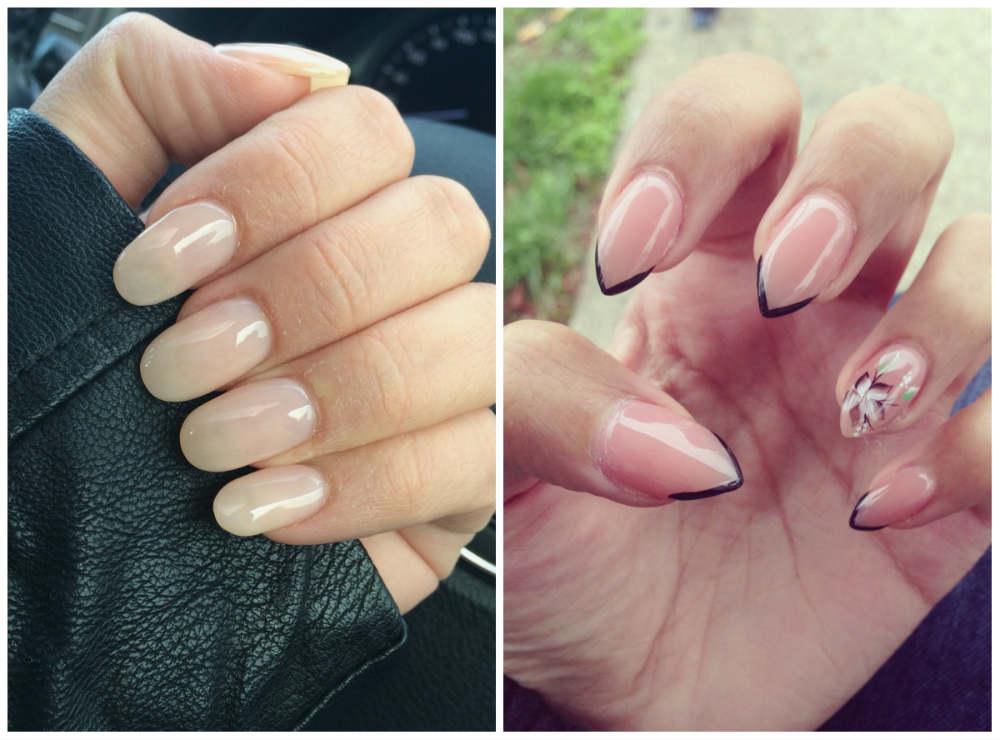 Модный весенний дизайн ногтей, овальная форма ногтей средней длины