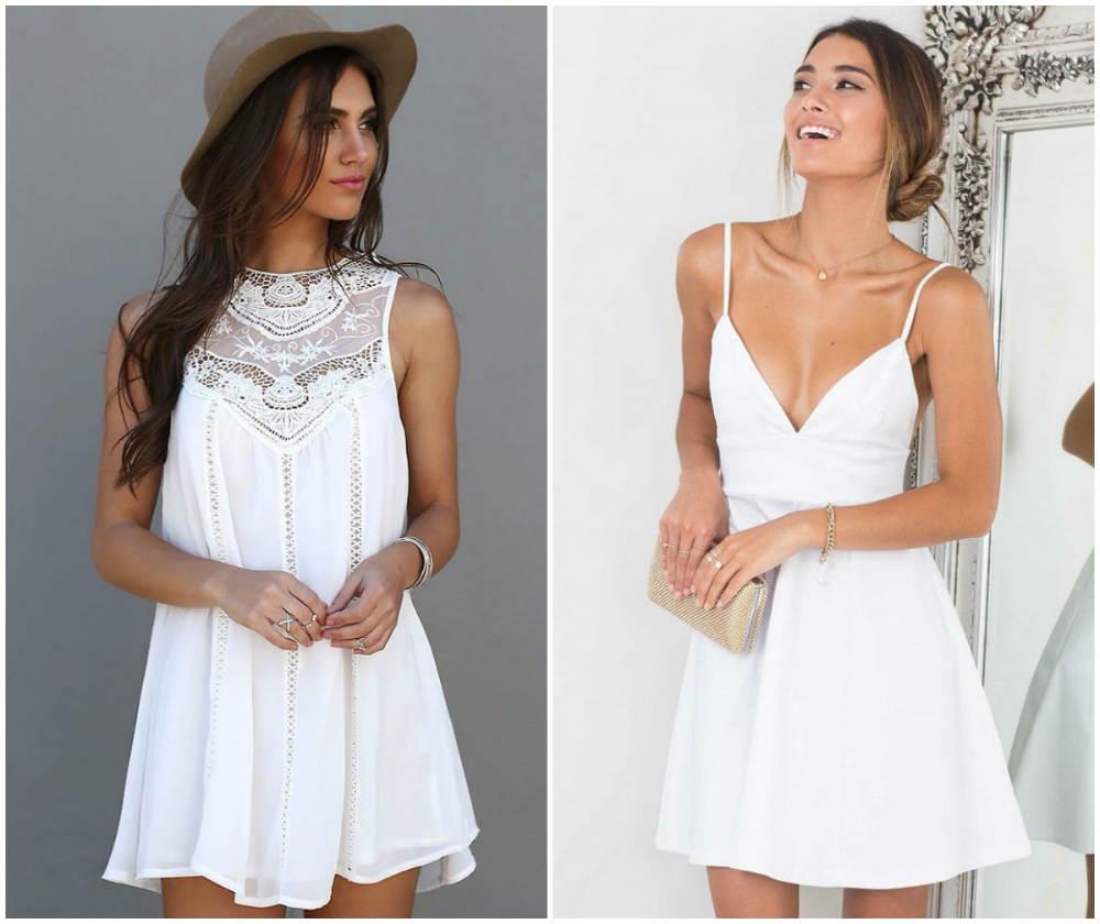 Фантастические и легкие летние платья 2020 года белого цвета