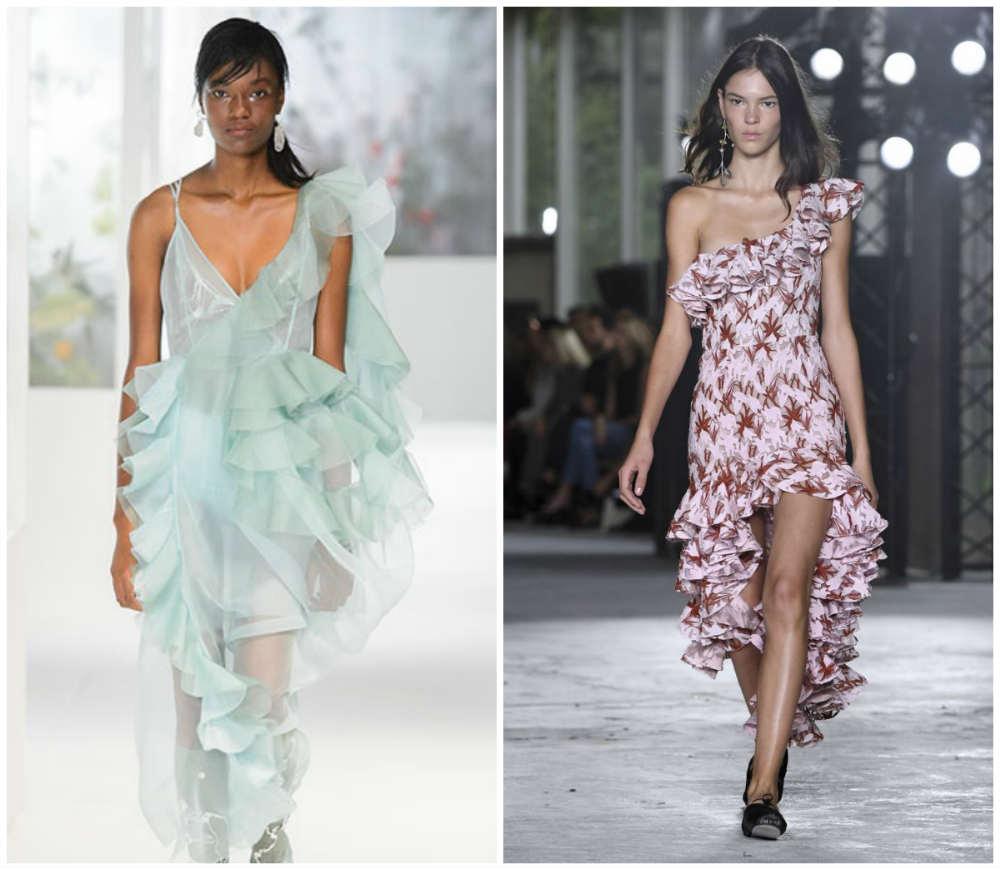 Летние платья 2020 года, красивые и модные платья с оборками
