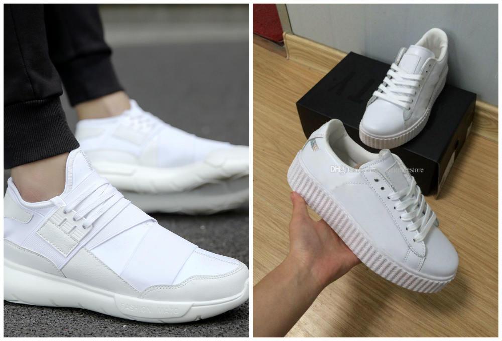 Самые хитовые и модные кроссовки 2018 года белого цвета для девушек 533bbeffbb6