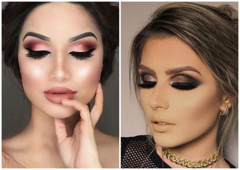 Модныы тренды макияжа 2018 года, вечерний классический макияж