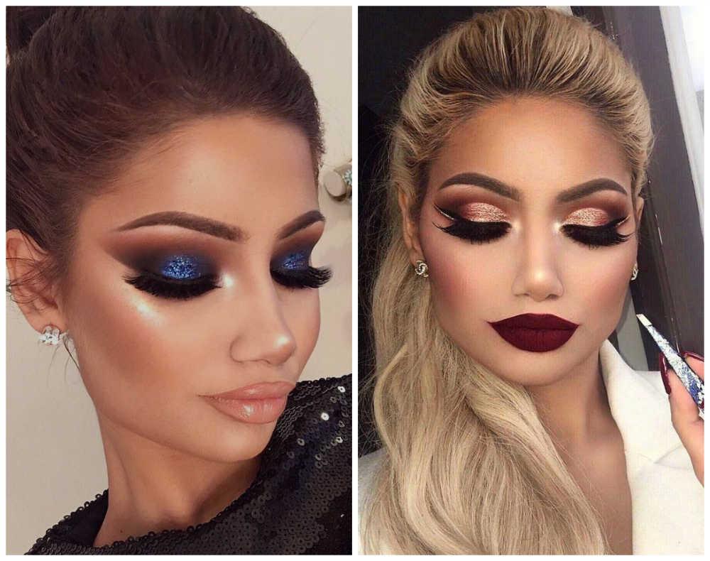 Лучшие тренды макияжа 2018 года, драматичный праздничный макияж
