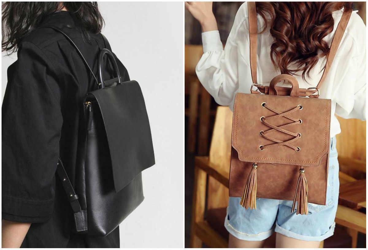 Модные рюкзаки для девушек, самые красивые и модные дизайны