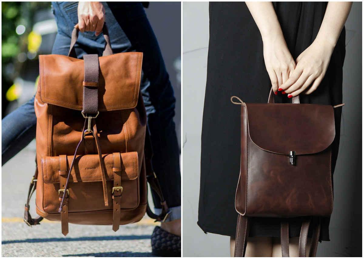Модные рюкзаки для девушек, кожанные и массивные рюкзаки
