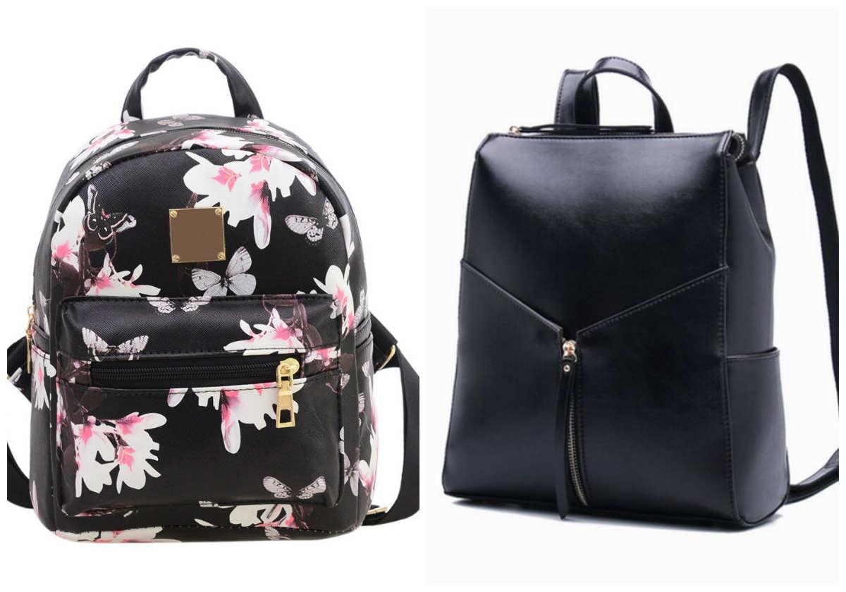 Модные рюкзаки для девушек, рюкзаки с принтами черного цвета