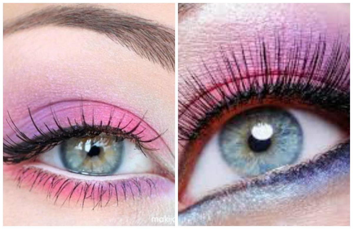 Вечерний макияж 2019, контрастные яркие цвета теней