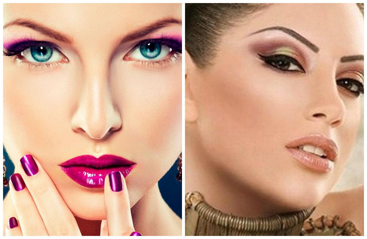 Мейкап 2019, яркий макияж с акцентом на глаза и губы