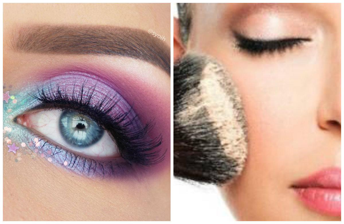 Мейкап 2019, яркий макияж с разноцветными тенями