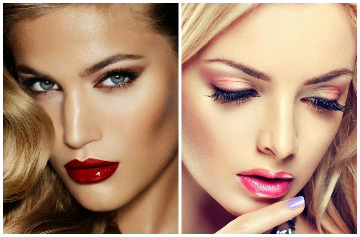 Модный макияж 2019, выразительный блеск на губах