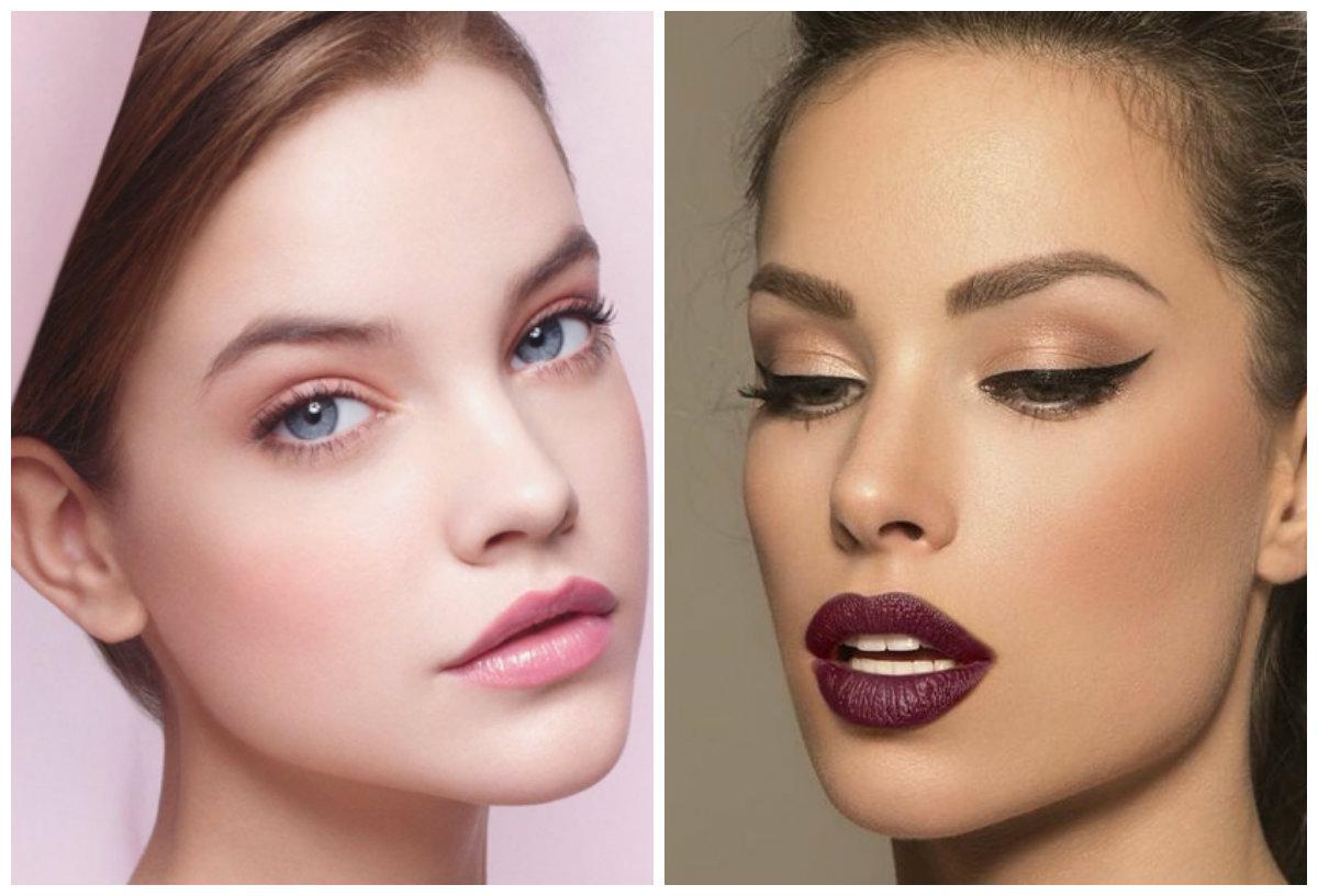 Модный макияж 2019, модные контрастные оттенки помады