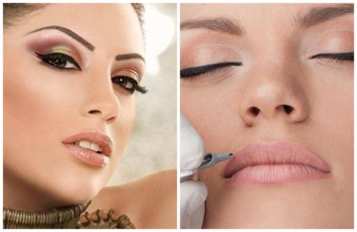 Перманентный макияж 2019, подчеркивание контуров губ