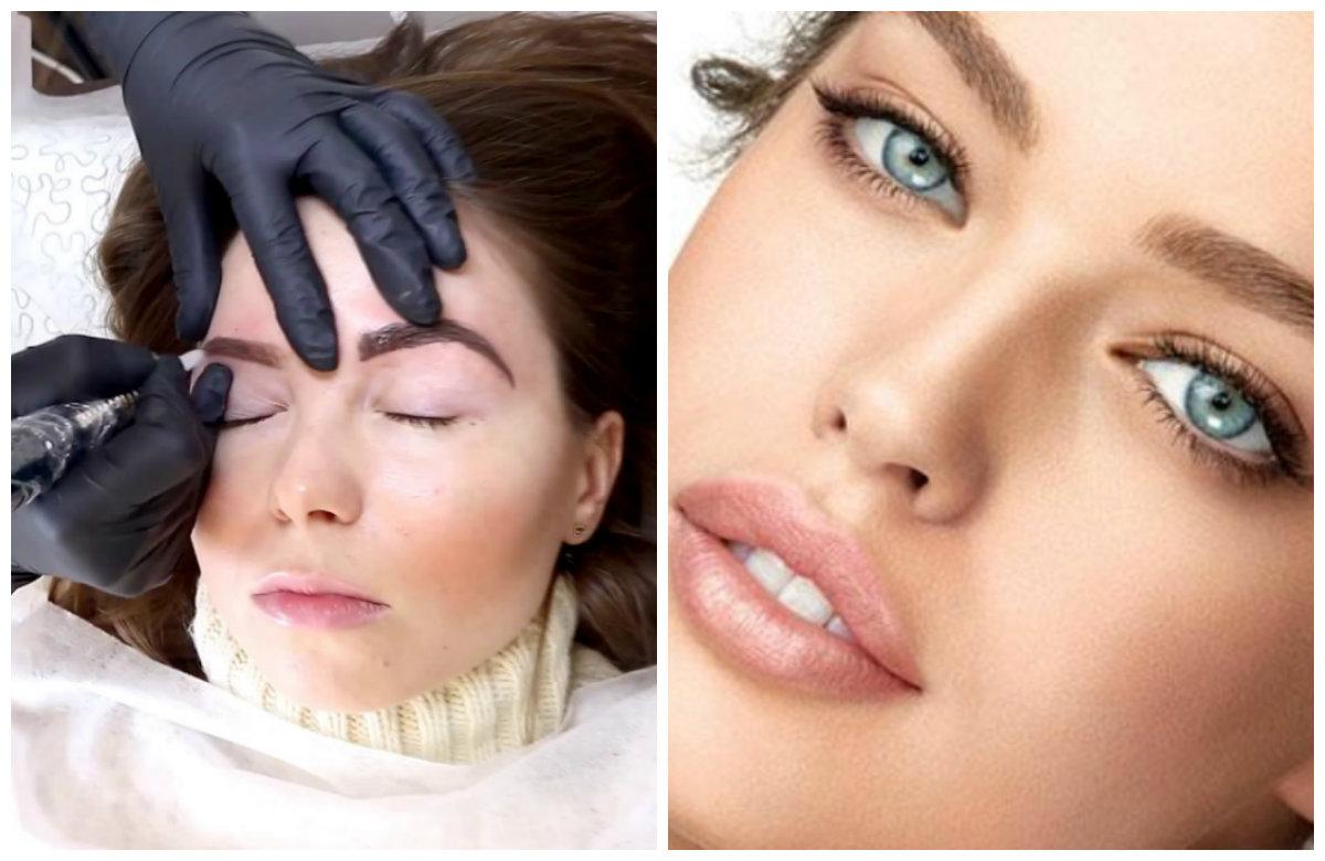 Перманентный макияж 2019, подчеркивание контуров бровей