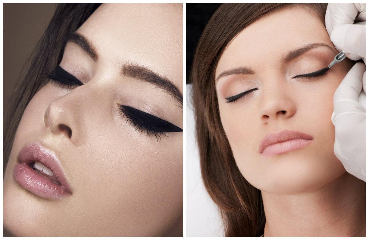 Перманентный макияж 2019, выполнение техники в области век