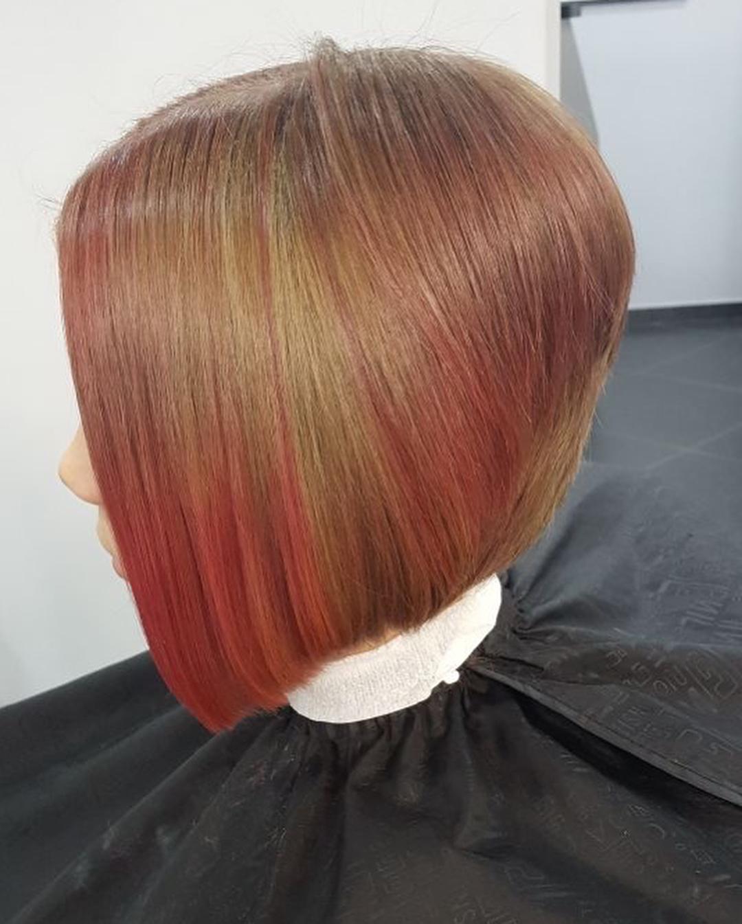 модные-женские-стрижки-на-короткие-волосы-2019-цвет-радуги